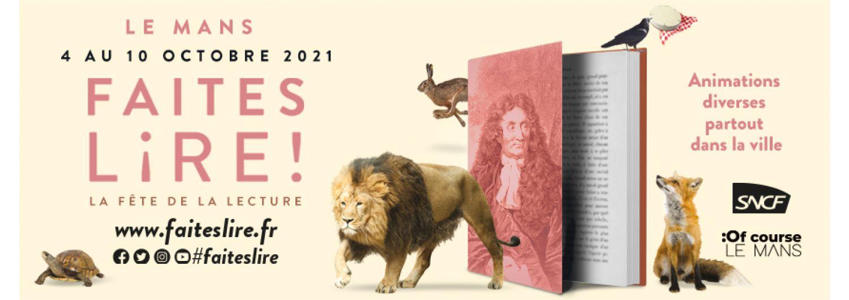 Faites lire ! La fête de la lecture, du 4 au 10 octobre au Mans