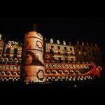 La Nuit des Chimères sur l'enceinte romaine © Ville du Mans Gilles Moussé
