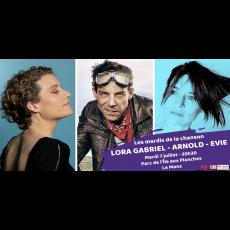 Visuel LES MARDIS DE LA CHANSON : LORA GABRIEL & ARNOLD & EVIE
