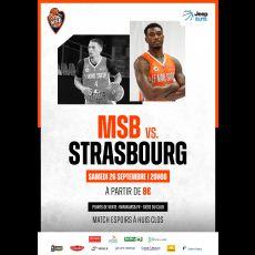 Visuel MSB/STRASBOURG- CHAMPIONNAT DE FRANCE PRO A - SAISON 2020/2021