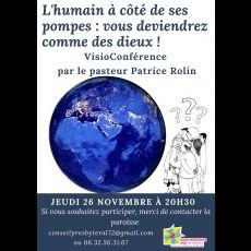 Visuel L'HUMAIN À CÔTÉ DE SES POMPES : VOUS SEREZ COMME DES DIEUX !!