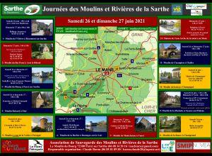 JOURNEES DES MOULINS ET RIVIERES DE LA SARTHE