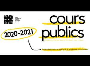 INSCRIPTIONS AUX COURS PUBLICS À L'ÉCOLE SUPÉRIEURE D'ART ET DE DESIGN TALM-LE MANS
