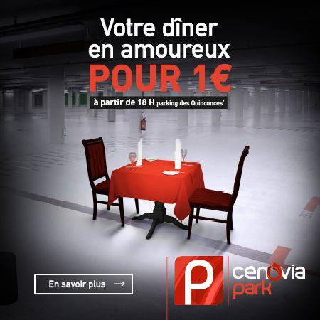 Votre dîner en amoureux pour 1€
