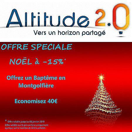Offre spéciale Noël chez Altitude 2.0