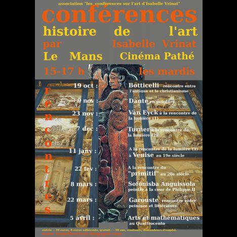 Visuel CONFÉRENCES HISTOIRE DE L'ART