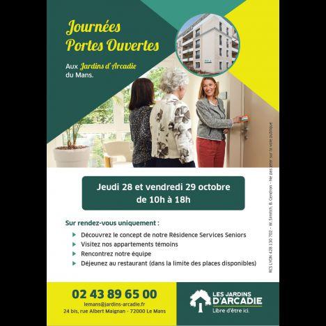 Visuel PORTES OUVERTES - LES JARDINS D'ARCADIE